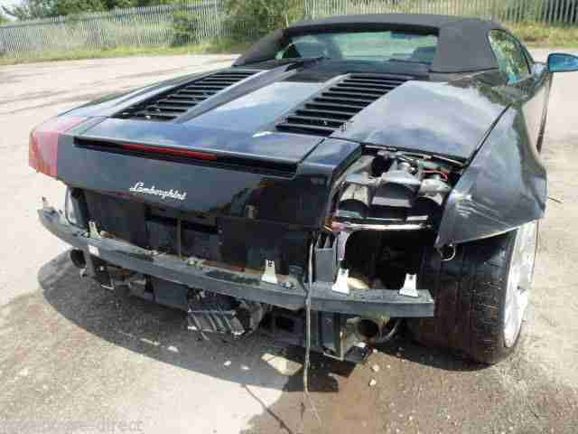 Lamborghini Gallardo Spyder 2008 Black Cat D Salvage Car