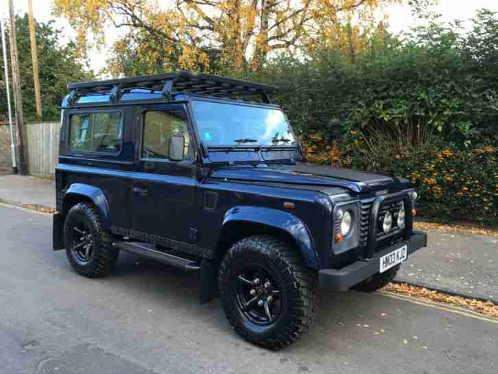 Land Rover Defender 90 2003 Td5 Xs Oslo Blue Car For Sale