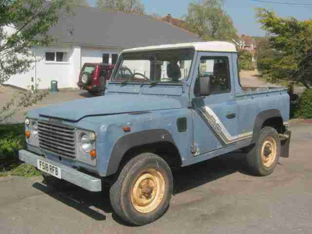 Land Rover Defender 90 4c 2 5dt Pick Up F Reg 1989 Last