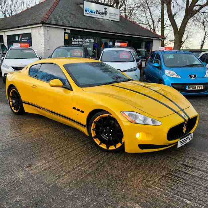 MASERATI GRANTURISMO 4.2 YELLOW STUNNING RESPRAY MC PX FIANANCE WARRANTY