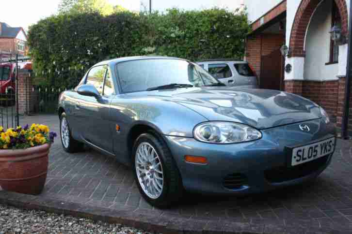 MAZDA MX5 1.8 EUPHONIC ARTIC BLUE 2005 HARD AND SOFT TOP