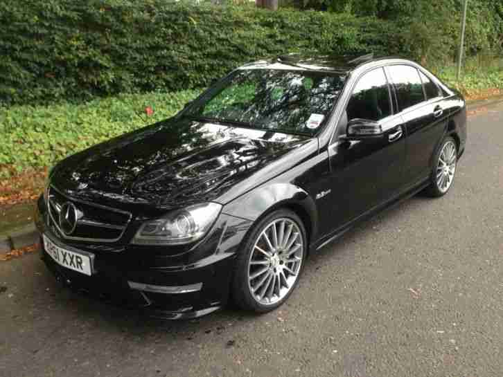 MERCEDES BENZ C 63 AMG EDITION 125 BLACK WITH BLACK LEATHER , FACELIFT MODEL