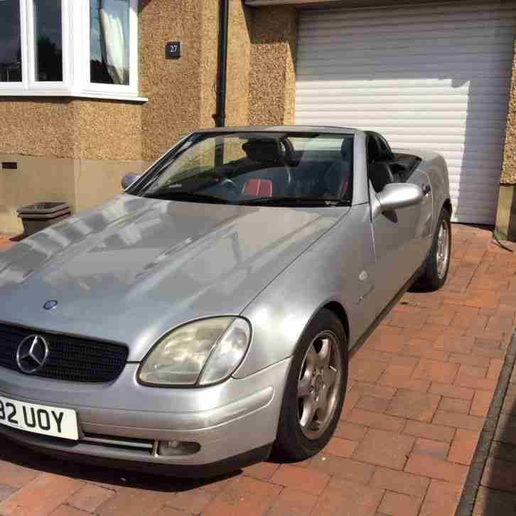 MERCEDES SLK 230 CONVERTIBLE KOMPRESSOR AUTO RED/BLACK LEATHER LOW MILAGE 64000