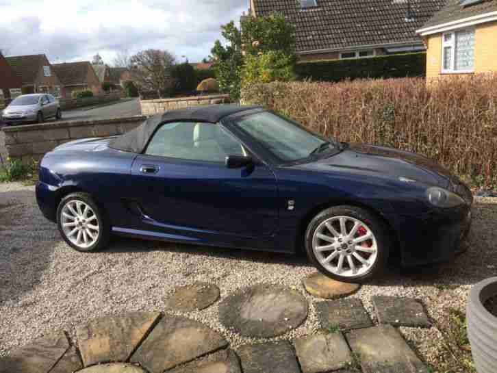 MG TF 160 Blue Convertible sports car soft top 2 door