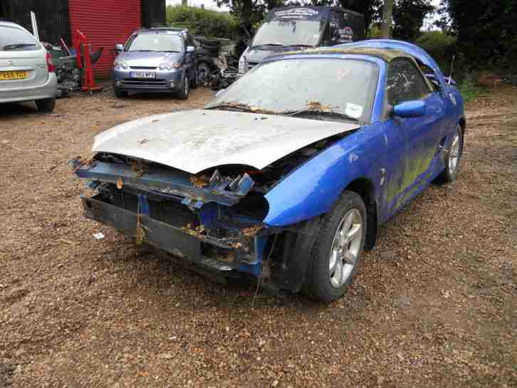 MG TF Convertible 1.8 2002 Blue BREAKING FOR SPARES - 5 Speed Gearbox