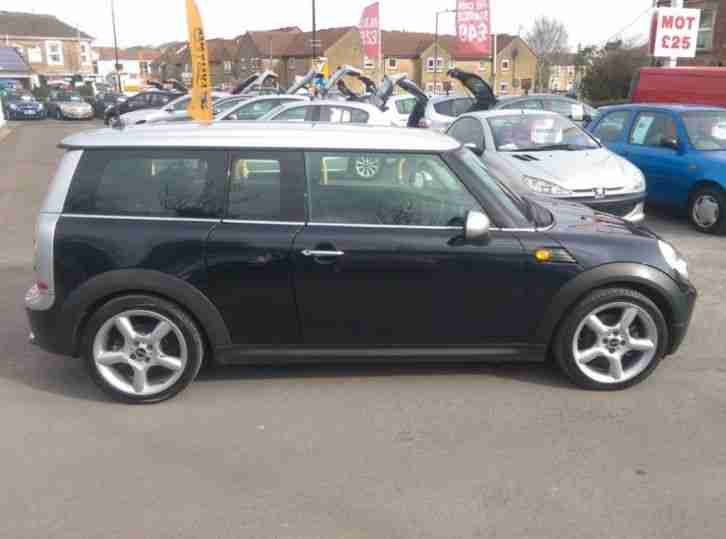 mini clubman cooper 2008 petrol manual in black car for sale. Black Bedroom Furniture Sets. Home Design Ideas