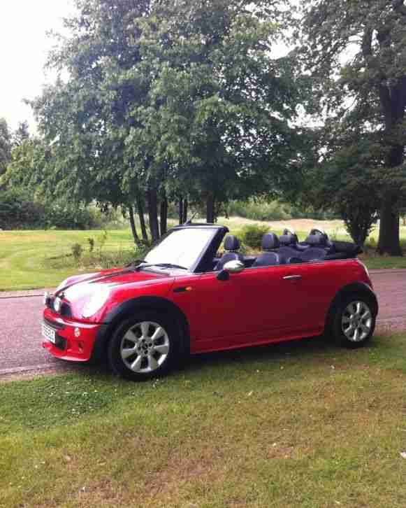 Vehicle Mini Cooper Convertible S Red: Mini COOPER 1.6 CONVERTIBLE RED 05. Car For Sale