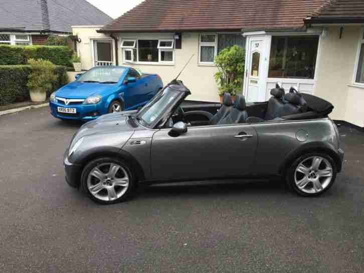 MINI COOPER S 1.6 CONVERTIBLE SUPERCHARGED 55 PLATE DOR-23/11/2005 12 MONTHS MOT