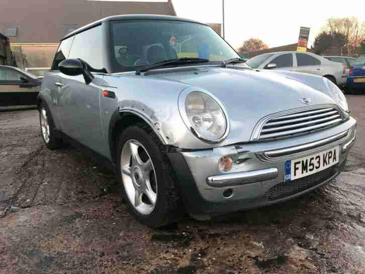 Mini COOPER SILVER. Mini car from United Kingdom