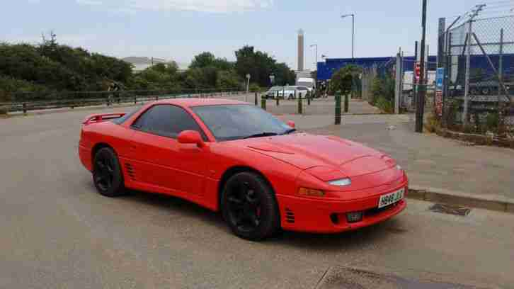 MITSUBISHI 3000 GT TWIN TURBO 1991 IN RED 1 YEARS MOT