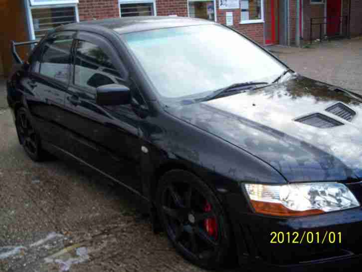 MITSUBISHI BLACK fq300 375 bhp 2002 model evo 7
