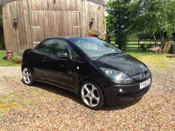 mitsubishi colt convertible czc turbo black 12mths mot car for sale. Black Bedroom Furniture Sets. Home Design Ideas