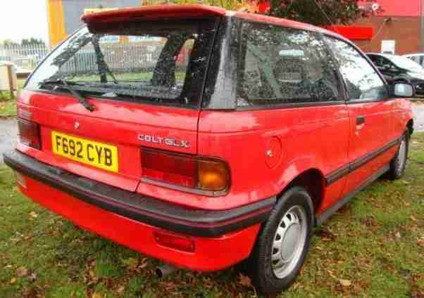 MITSUBISHI COLT GLX 1988 Petrol Manual in Red