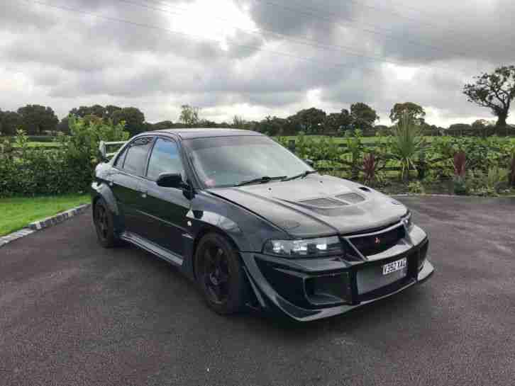 MITSUBISHI LANCER EVO VI TOMMI MAKINEN BLACK, VARIS BODY KIT 2.0L PETROL, RARE.