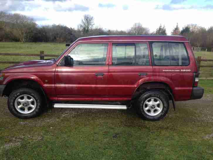 MITSUBISHI SHOGUN,2.8TD,YEARS MOT.1999 T REG,7 SEATS, VERY RELIABLE .*NO RESERVE