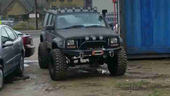 jeep monster truck cherokee td limited  diesel  custom car  sale