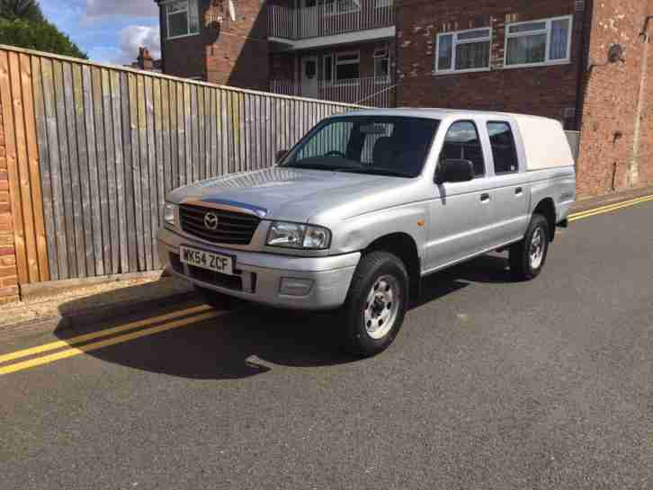 Mazda B2500 4X4 PICK UP SILVER 2004 ONLY 74K 1 OWNER SNUG TOP. car ...