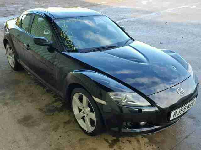 mazda rx8 231 6 speed navigation black on black spares repair car for sale. Black Bedroom Furniture Sets. Home Design Ideas
