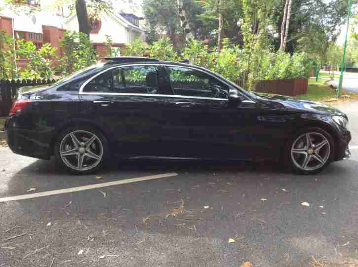 Mercedes-Benz C220 2.1TD AMG line Premium fsh 2015 EVERY EXTRA 7G-Tronic