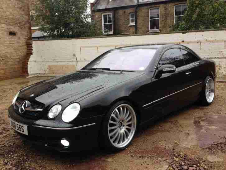 mercedes benz cl500 2005 black on black  car for sale