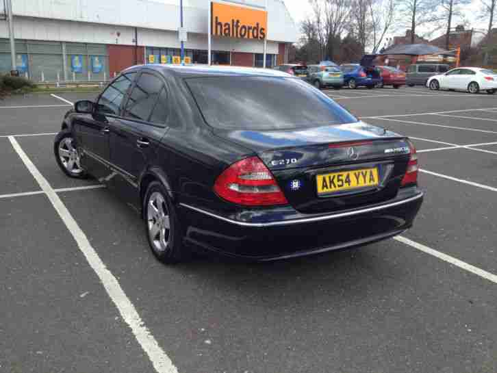 mercedes benz e270 cdi black 2004 reg car for sale. Black Bedroom Furniture Sets. Home Design Ideas