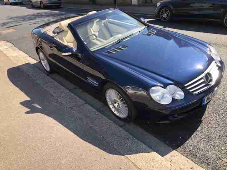 Mercedes Benz SL500 V8 / R230 / Tanzanite Blue / Cream leather / SL Class 500