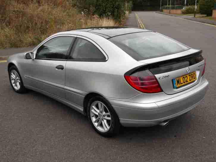 Mercedes C200 Kompressor Coupe 3 Door Silver 2002 02