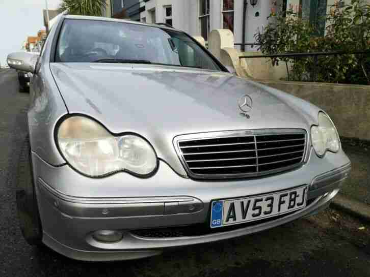 Mercedes C270. Mercedes-Benz car from United Kingdom