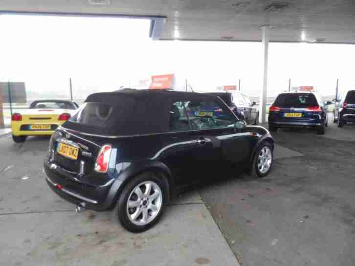 Mini 1.6 Cooper Convertible Chilli Pack Soft Top Black Mini Cab