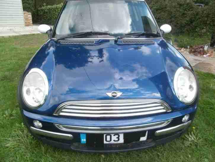 Mini Cooper 2003. Mini car from United Kingdom
