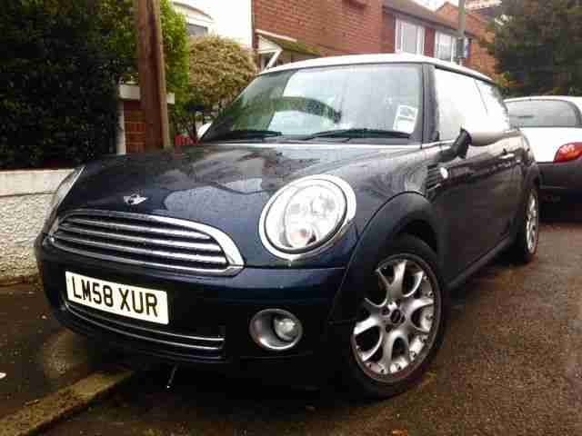 Mini Cooper Black. Mini car from United Kingdom