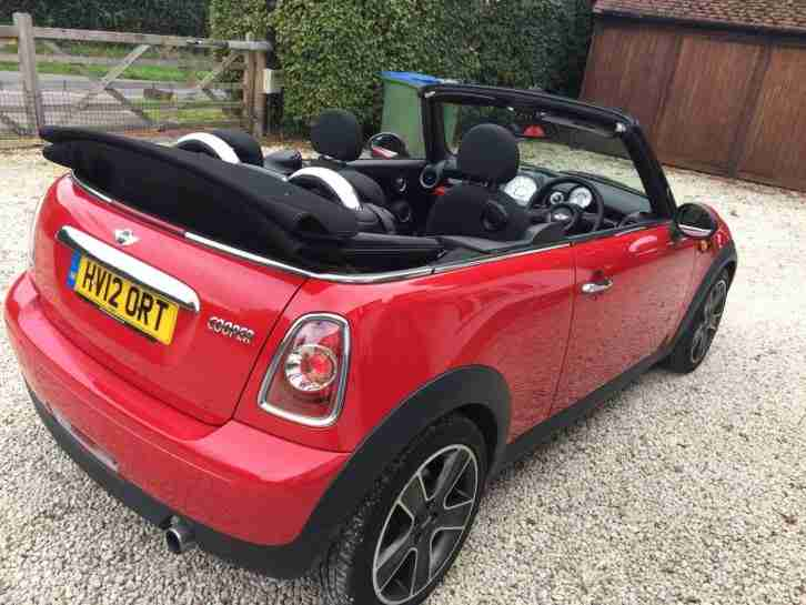 Mini Cooper Red Convertible 2012 1.6