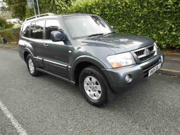 Mitsubishi Shogun 3.2DI D Equippe 5 SPEED MANUAL 2005 7 SEATS LEATHER GREY