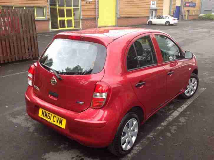 nissan micra 1 2 visia 5dr red car for sale. Black Bedroom Furniture Sets. Home Design Ideas