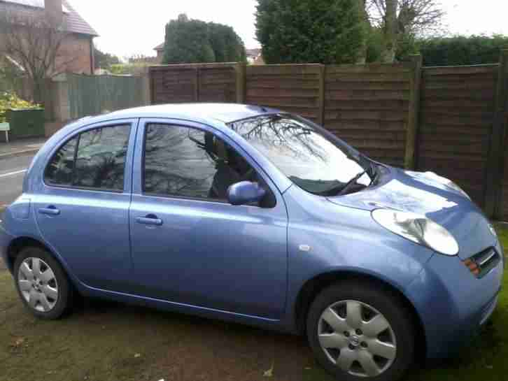 nissan micra 2003 blue 1 2 spares or repairs mot november 2016 car for sale. Black Bedroom Furniture Sets. Home Design Ideas