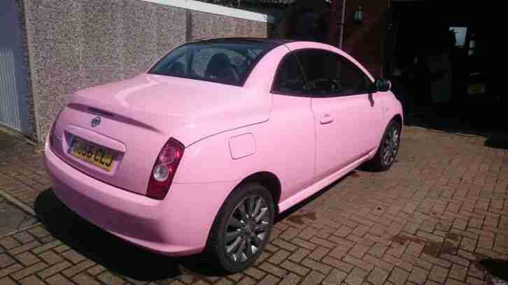 nissan micra sport c c pink 38500 miles only car for sale. Black Bedroom Furniture Sets. Home Design Ideas