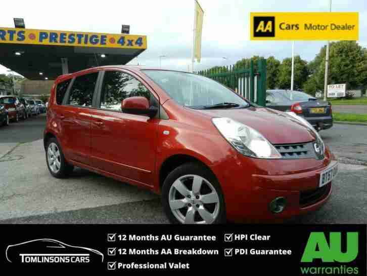 Nissan NOTE 1.6. Nissan car from United Kingdom