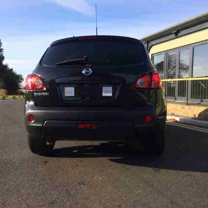NISSAN QASHQAI VISIA 2WD BLACK - LOW MILES JUST 47k FSH 2008