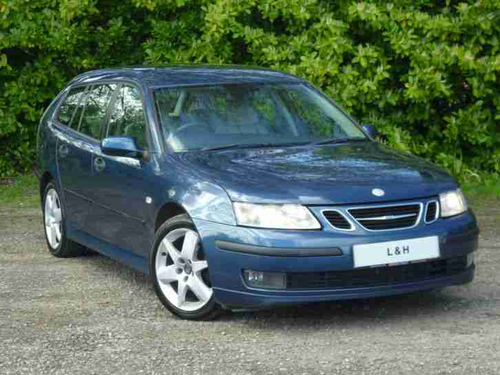 NO RESERVE SAAB 9 3 VECTOR SPORT DT ESTATE, METALLIC BLUE with FULL LEATHER