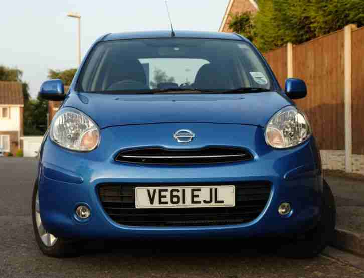 Nissan Micra Acenta 2011, Low Mileage, AirCon, Metallic Blue. Nottingham