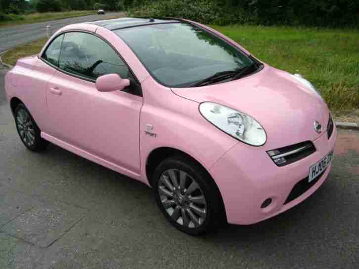 nissan micra convertible c c 1 6 sport 2006 pink car for sale. Black Bedroom Furniture Sets. Home Design Ideas