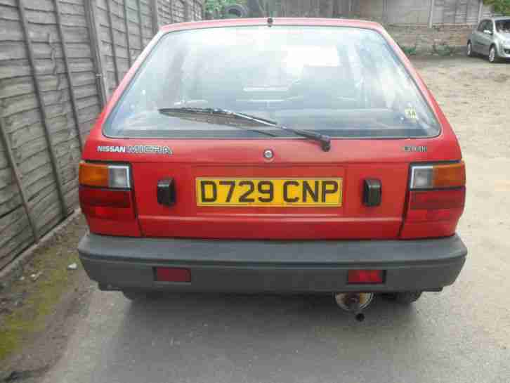 Nissan Micra K10 Mk1 Spares Repair Restoration Project Runs 12 Months MOT