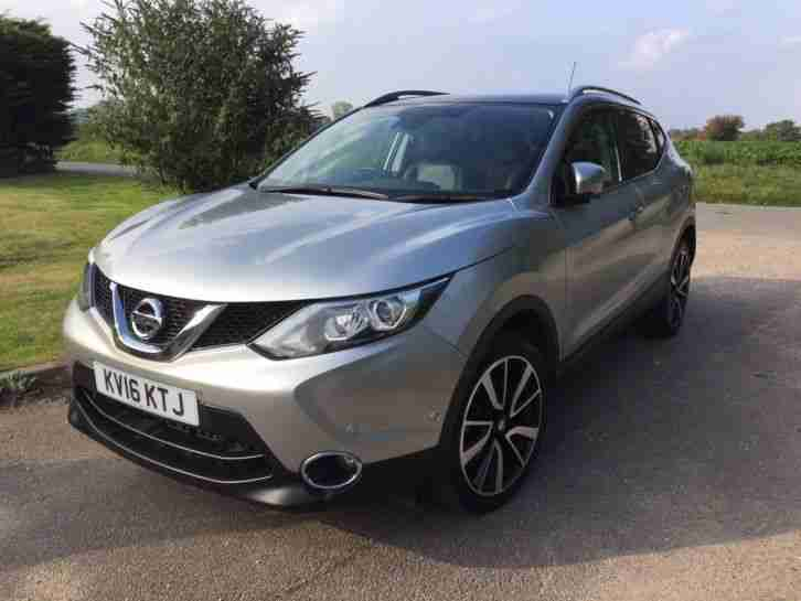 nissan qashqai 1 5 dci 110 tekna 5 door silver panoramic roof car for sale. Black Bedroom Furniture Sets. Home Design Ideas