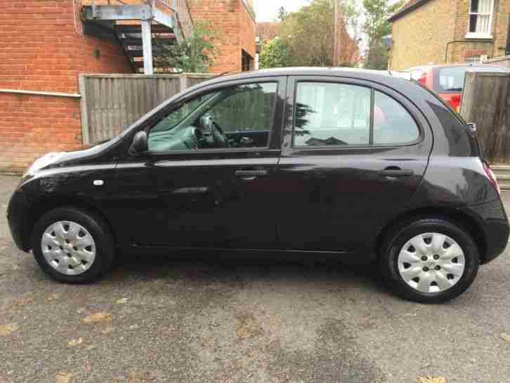 nissan micra auto automatic 1 2 black low mileage 2005 55. Black Bedroom Furniture Sets. Home Design Ideas