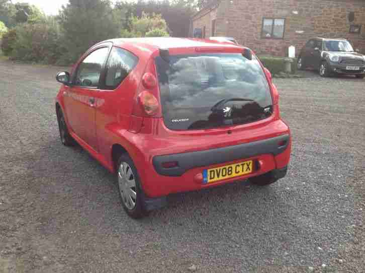 PEUGEOT 107 KISS 2008 3DR 100K M.O.T MARCH 2016 VERY WELL MAINTAINED CAR£20 TAX