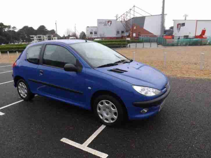 peugeot 206 1 4 2004 petrol manual in blue car for sale. Black Bedroom Furniture Sets. Home Design Ideas