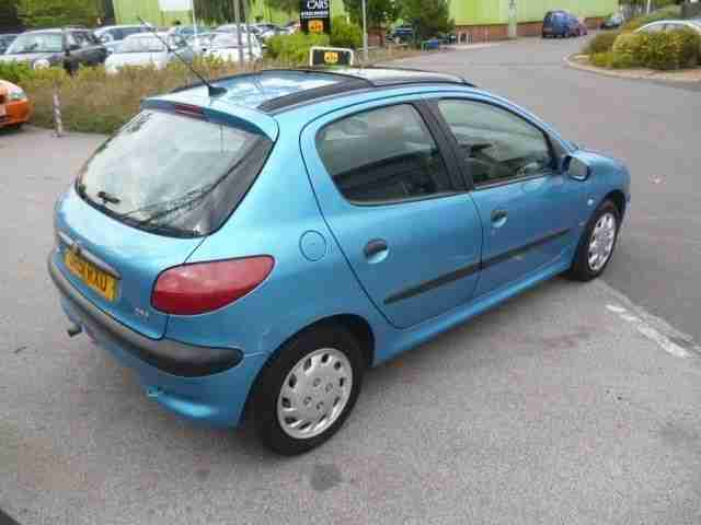 peugeot 206 lx blue manual petrol 2001 car for sale. Black Bedroom Furniture Sets. Home Design Ideas
