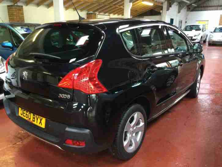 PEUGOT 3008 CROSSOVER1.6HDi ( 112bhp ) FAP EXCLUSIVE,ALLOYS,BLACK
