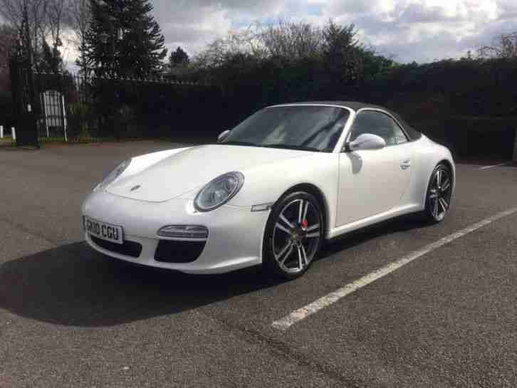 PORSCHE 911 997 Carrera 4S Gen 2 PDK Cabriolet 2010 White Damaged Repaired Cat D
