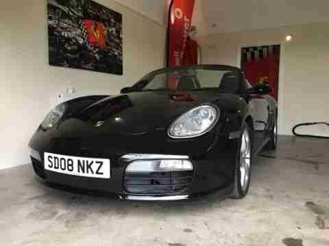 PORSCHE BOXSTER 2.7 2008 08 BLACK CONVERTIBLE MANUAL HISTORY